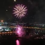 堺大魚夜市花火開催時はバルコニーよりお楽しみ頂けます