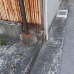 再建築時、L型側溝の復旧が必要な場合があります