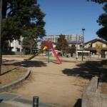 物件の向かいは公園です
